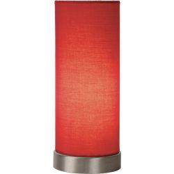 Lampe de table contemporaine en métal et tissu Joss
