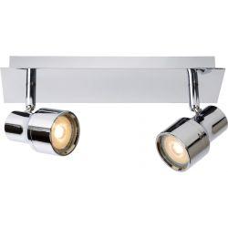Spot moderne en métal 2 LED Ø10 cm Steel