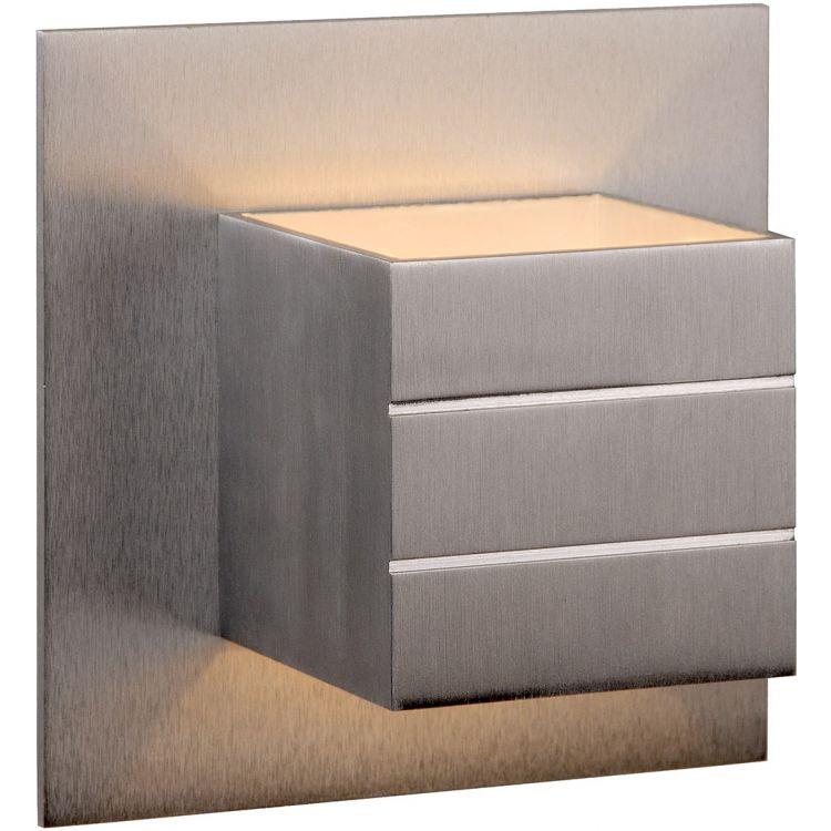 Applique contemporaine carrée en aluminium Lea