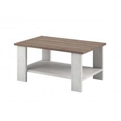 Table basse style campagne chêne blanchi/marron Atlanta