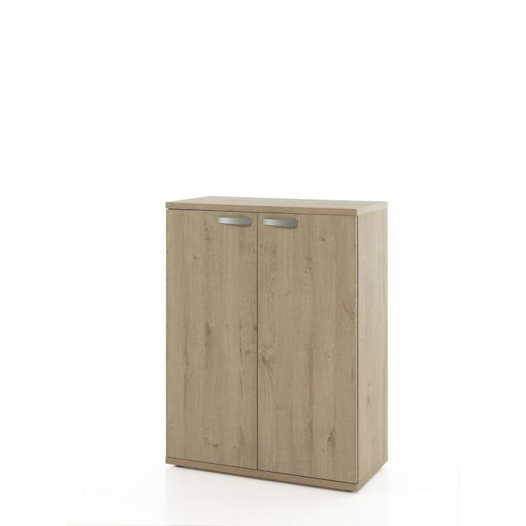 Armoire de bureau contemporaine H 117 cm chêne clair Lania