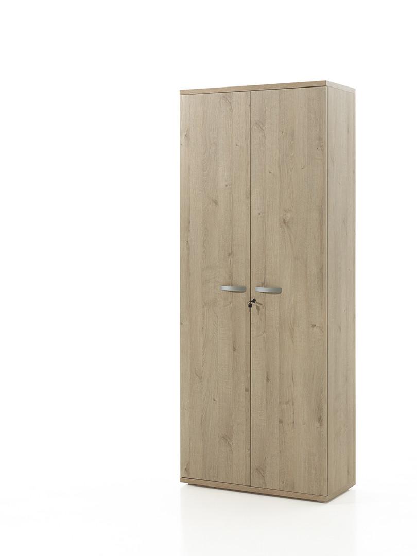 Armoire de bureau contemporaine H 222 cm chêne clair Lania