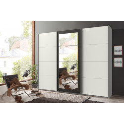 Armoire adulte blanc/anthracite Berlin
