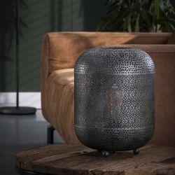 Lampe de table industrielle en métal argenté Erika