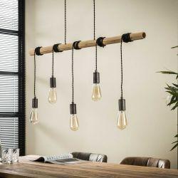 Suspension moderne en bambou 5 lampes Corentin