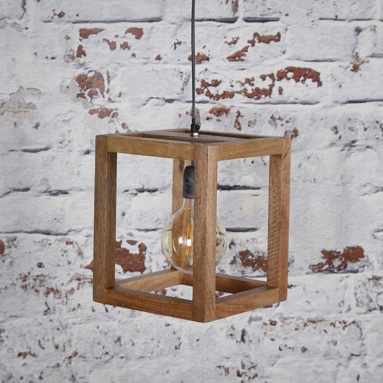 Suspension contemporaine en bois de manguier Rudy