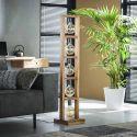Lampadaire contemporain en bois d'acacia 5 lampes Rio