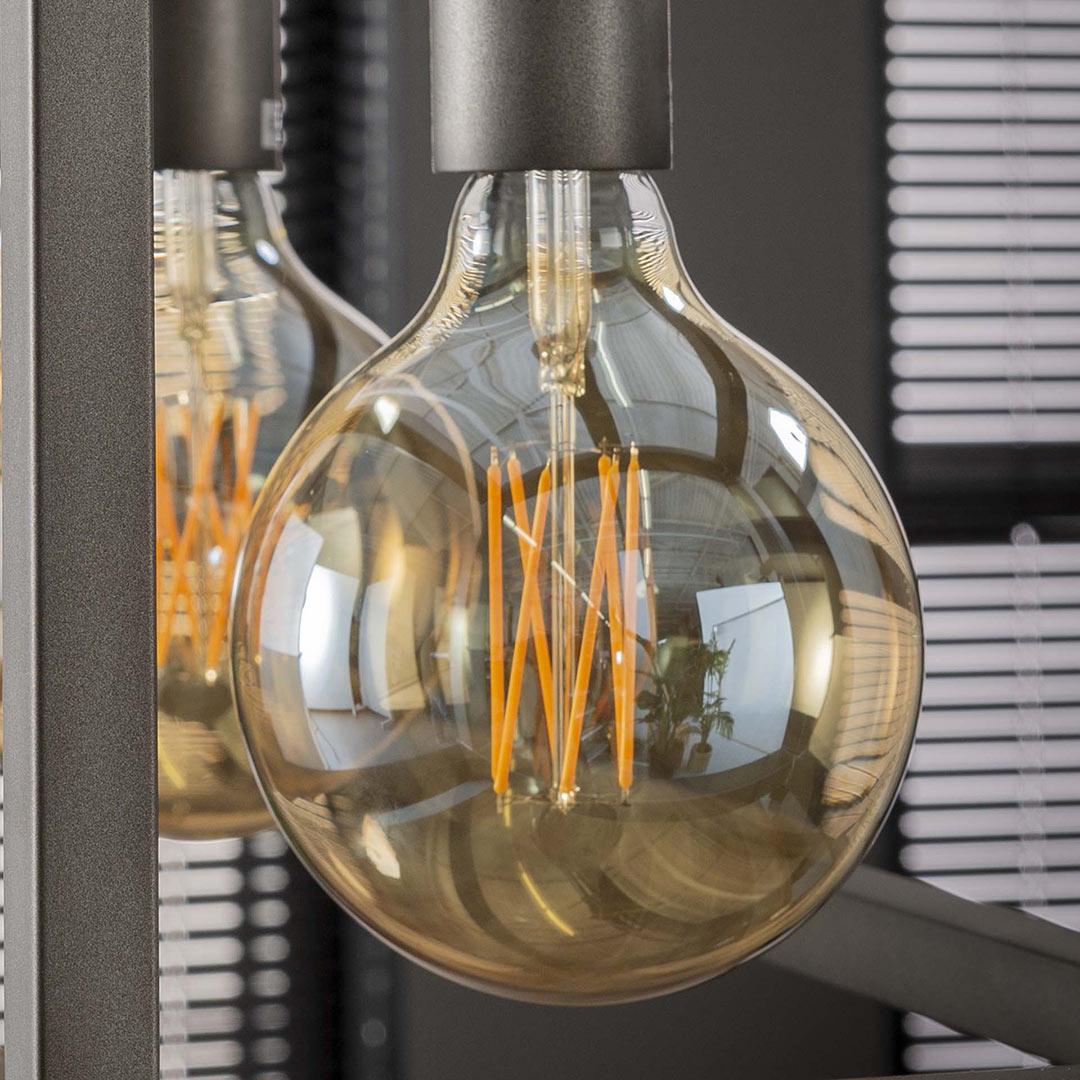 Ampoule LED filament E27 6W Ø12,5 cm