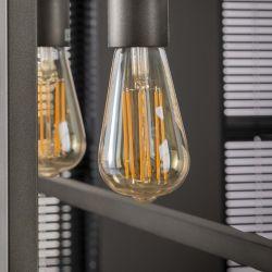 Ampoule LED filament E27 6W Ø6,4 cm