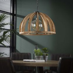 Suspension contemporaine en bois de manguier Ø 60 cm Max