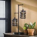 Lampe de table inustrielle 2 lampes en métal gris James