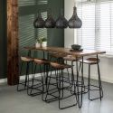 Table de bar contemporaine en acacia John