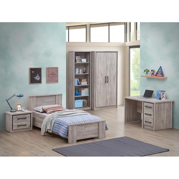 Chambre enfant contemporaine chêne gris Oliviera