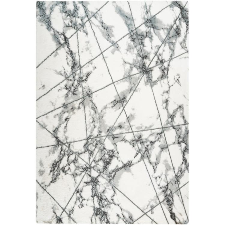 Tapis doux graphique shaggy scandinave marbré Marble