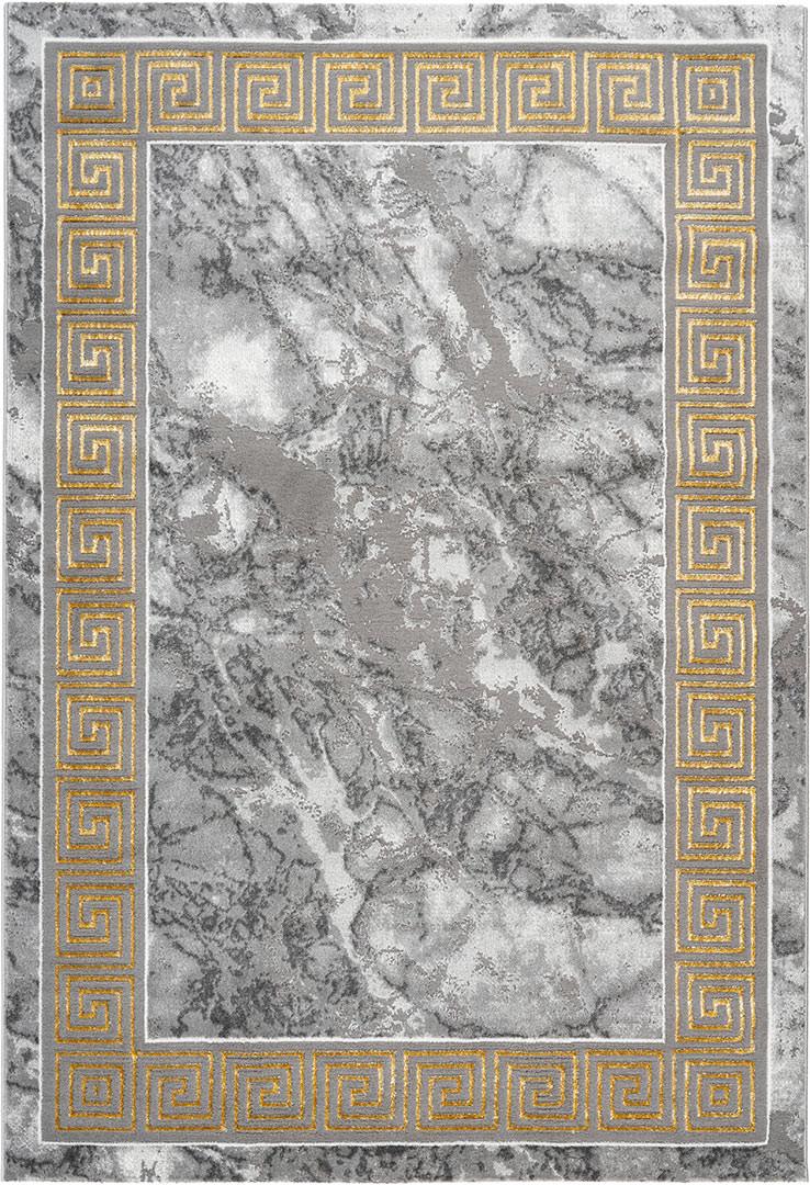 Tapis brillant marbré baroque intérieur Skara