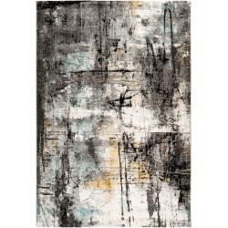 Tapis vintage intérieur rayé multicolore rectangle Evora