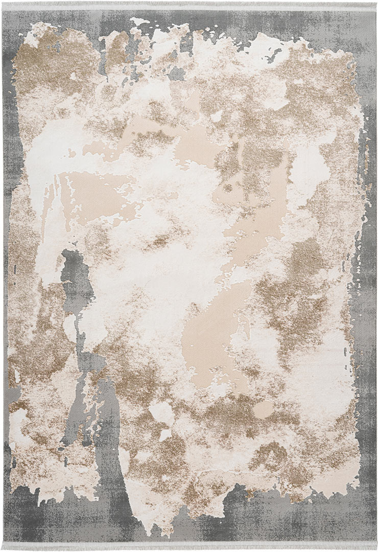 Tapis moderne avec franges en acrylique intérieur Trocadero