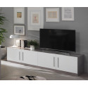 Meuble TV moderne 208 cm laqué Odetta