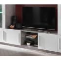 Meuble TV moderne 156 cm laqué Odetta