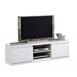 Meuble TV moderne 150 cm laqué Cristal