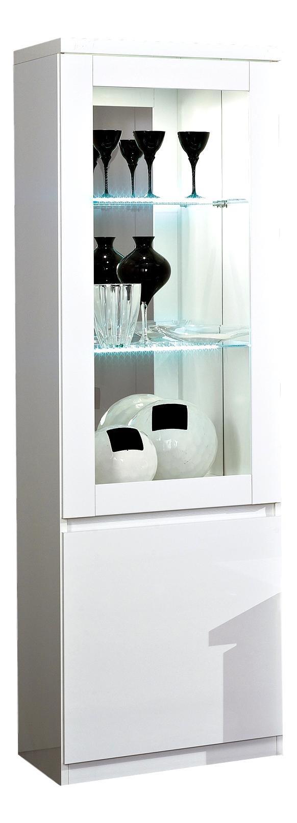Vitrine moderne 65 cm laquée Cristal