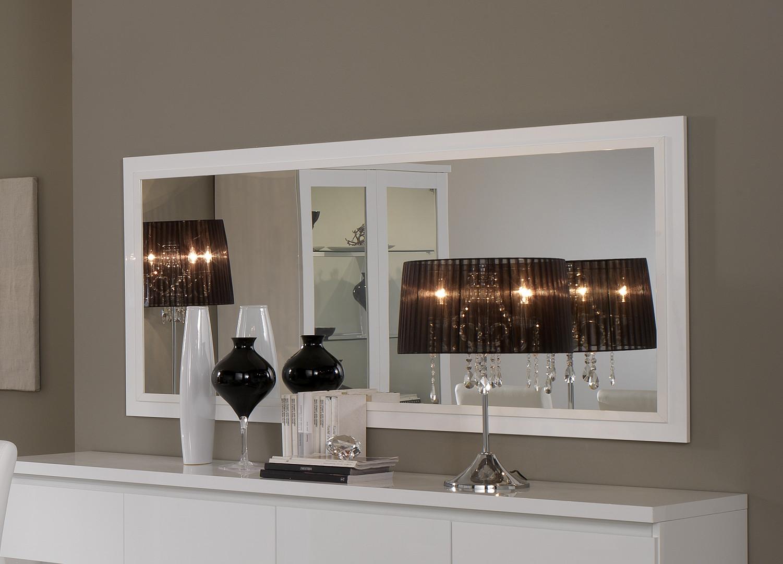 Miroir rectangulaire moderne laqué Cristal