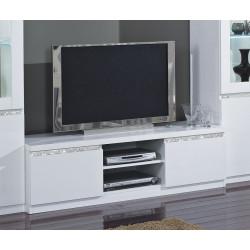 Meuble TV moderne 150 cm laqué Medusa