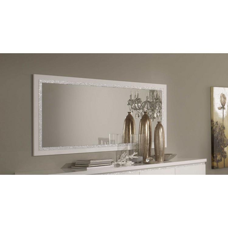 Miroir de salle à manger moderne 140 cm laqué Medusa