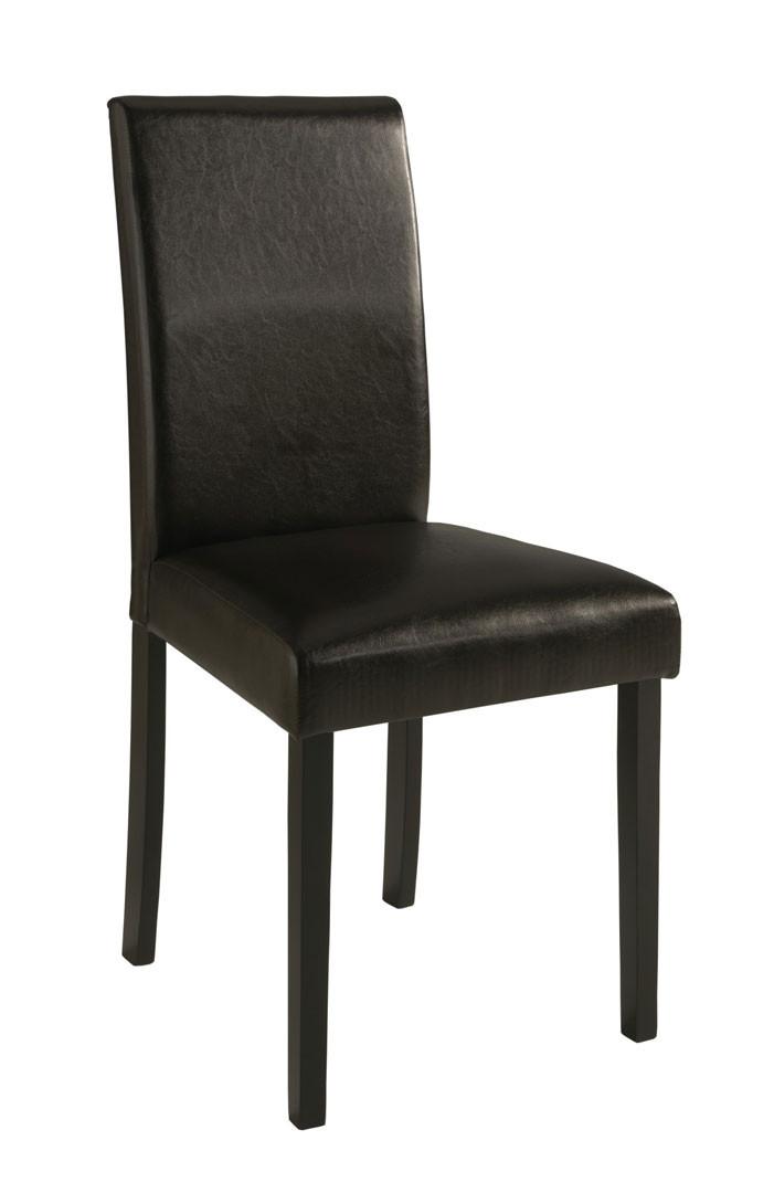 Chaise de salle à manger en PU brun (lot de 2) Rio