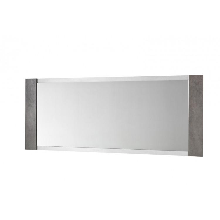 Miroir de salle à manger rectangulaire béton foncé/béton clair Evita
