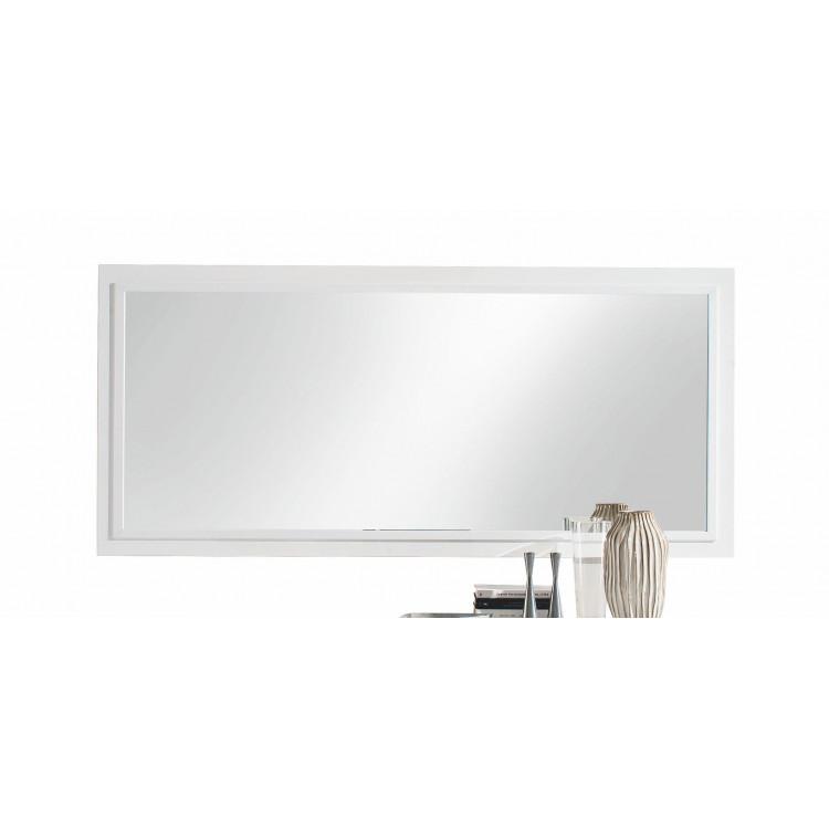 Miroir rectangulaire de salle à manger blanc Armel