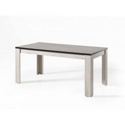 Table de salle à manger contemporaine chêne blanchi Bianca
