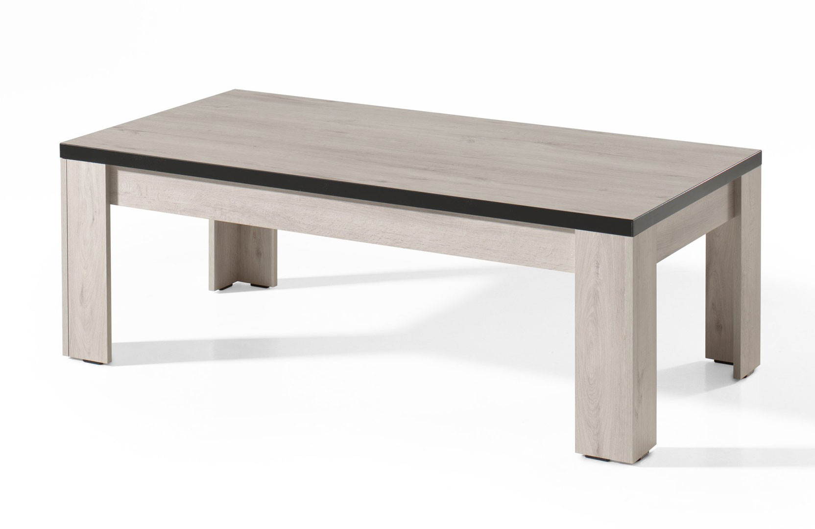 Table basse contemporaine chêne blanchi Bianca