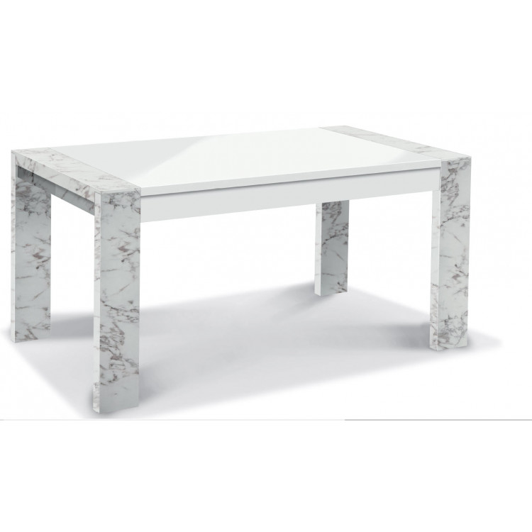 Table de salle à manger moderne marbré Victoire