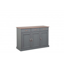 Buffet/bahut style campagne 131 cm gris Louisa