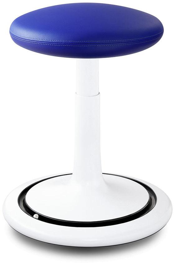Tabouret ergonomique réglable en hauteur 44-66 cm revêtement similicuir Aline