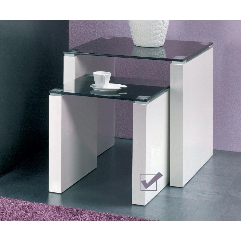 bout de canap design en verre lary. Black Bedroom Furniture Sets. Home Design Ideas