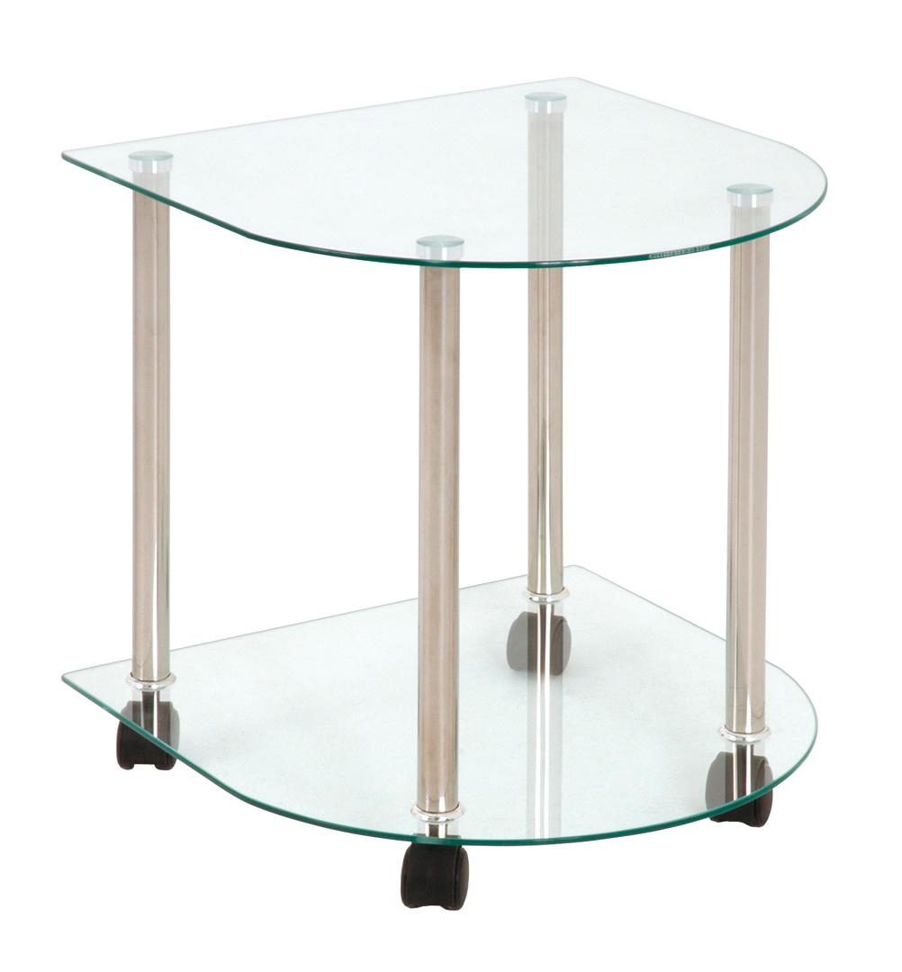 table d 39 appoint demi lune en verre shelden. Black Bedroom Furniture Sets. Home Design Ideas