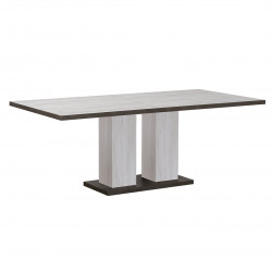 Table de salle à manger extensible contemporain chêne clair Pamela