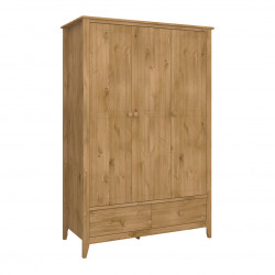 Armoire 122 cm style nature en pin massif Weston