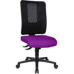 Chaise de bureau réglable en hauteur sans accoudoirs / piétement noir Paul