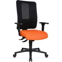 Chaise de bureau réglable en hauteur avec accoudoirs / piétement noir Paul