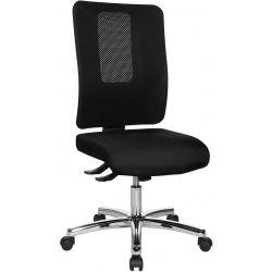 Chaise de bureau réglable en hauteur sans accoudoirs / piétement chromé Paul