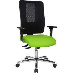 Chaise de bureau réglable en hauteur avec accoudoirs / piétement chromé Paul