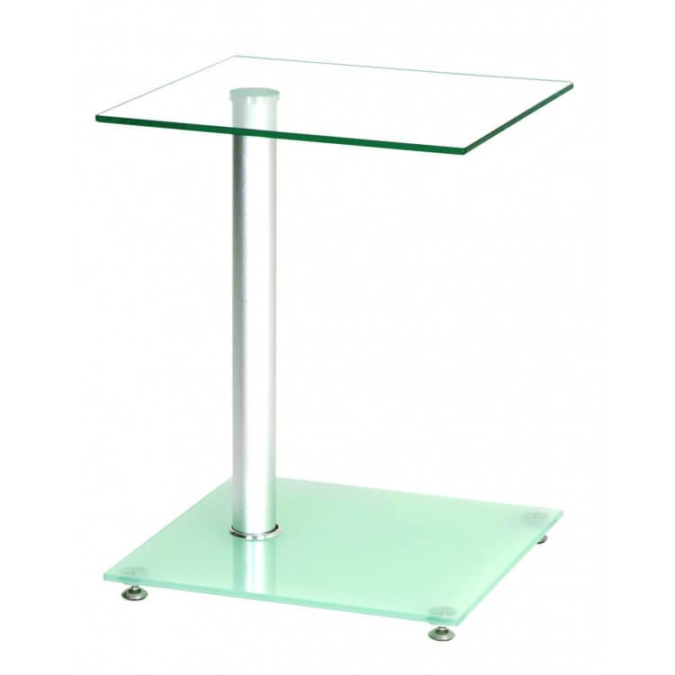 Table d'appoint design en verre Pedro
