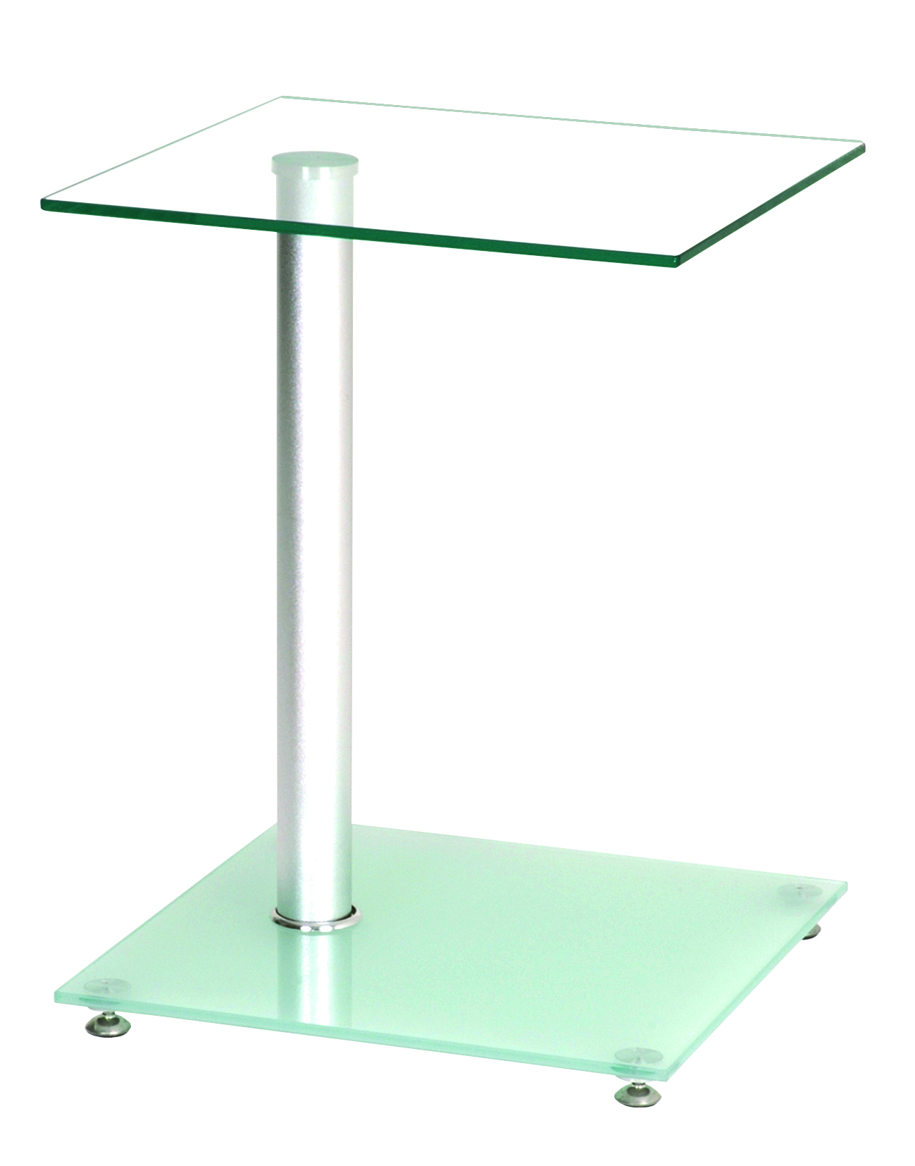 Table d'appoint design en verre Pedro