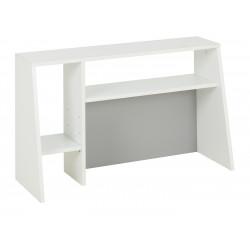 Réhausse pour bureau moderne blanc/gris Seraphin