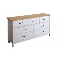 Commode style nature grise 143 cm Boreal