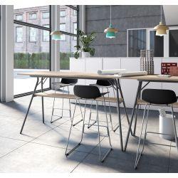 Table haute de réunion moderne Lea