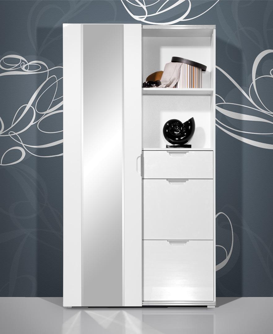 Meuble d'entrée contemporain blanc Clothilde